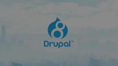 Drupal 8 sur fond de nuage